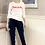 Thumbnail: Oohlala Sweatshirt in Weiss mit Orange