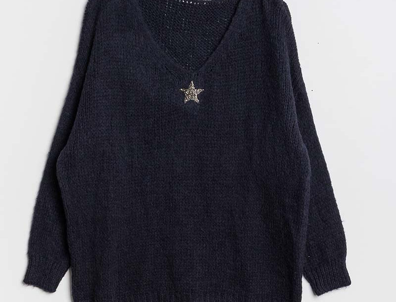 Lola Jumper in Navy with Silver Star
