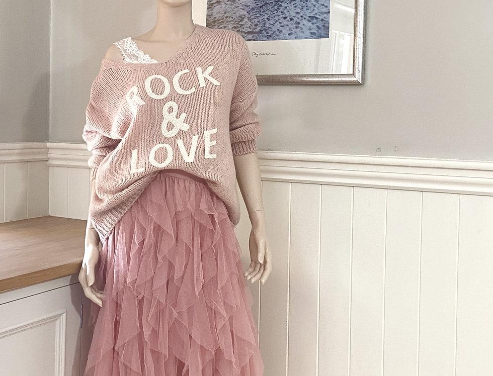 Sadie Rock & Love Sweater in Rose