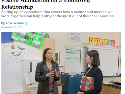 A Solid Foundation for a Mentoring Relationship