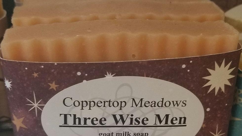 Three wise Men goats milk soap.