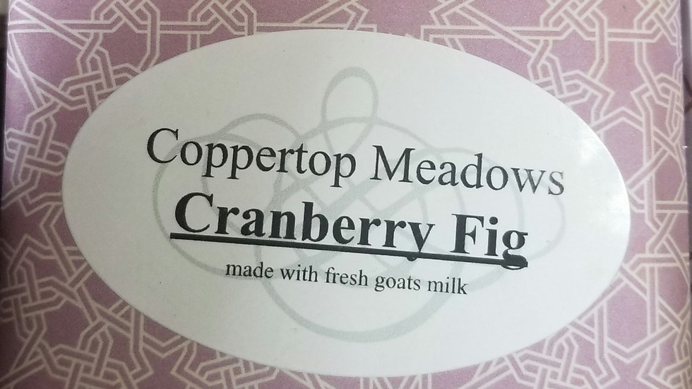 Cranberry Fig goats milk facial and body soap