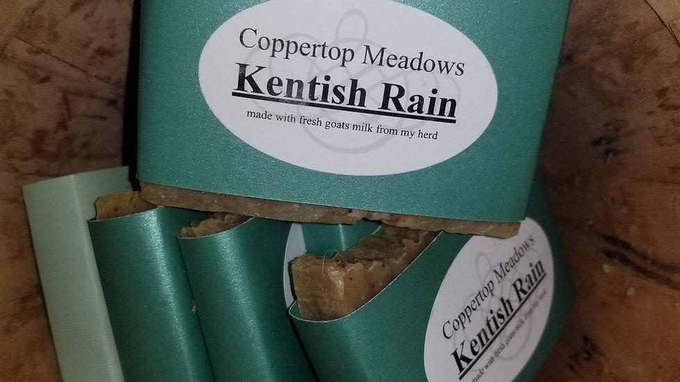 Kentish rain goat milk soap
