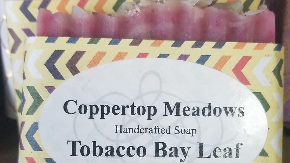 Tobacco bay leaf goat milk soap