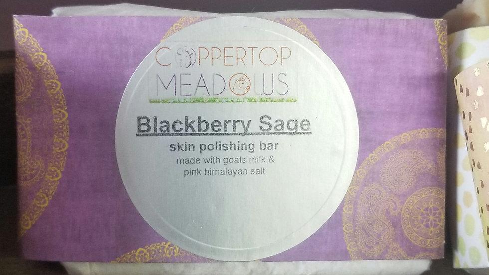 Blackberry sage skin polishing bar