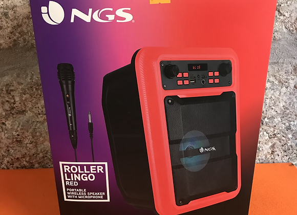 NGS Roller Lingo Red: Portable Wireless Speaker With Microphone