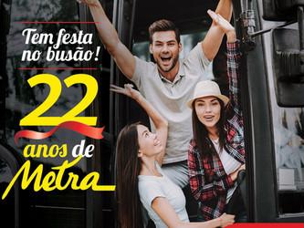 METRA COMEMORA 22 ANOS E INVESTE NA MELHORIA DO TRANSPORTE COLETIVO URBANO
