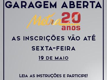"""METRA PROMOVE AÇÃO """"GARAGEM ABERTA"""" PARA COMEMORAR 20 ANOS DE ATIVIDADES"""