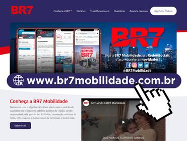 BR7 MOBILIDADE LANÇA NOVO SITE COM FOCO NA COMUNIDADE E NA ORIENTAÇÃO SOBRE O TRANSPORTE DE SÃO BERN