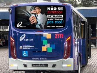 """SBCTRANS LANÇA SEGUNDA FASE DE SUA CAMPANHA """"DEIXE O CARRO, VÁ DE ÔNIBUS"""" PARA A MOBILIDADE URBANA"""