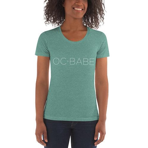Women's Crew Neck T-shirt White Logo