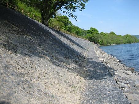 Lake Bala Immediatley after hydroseeding