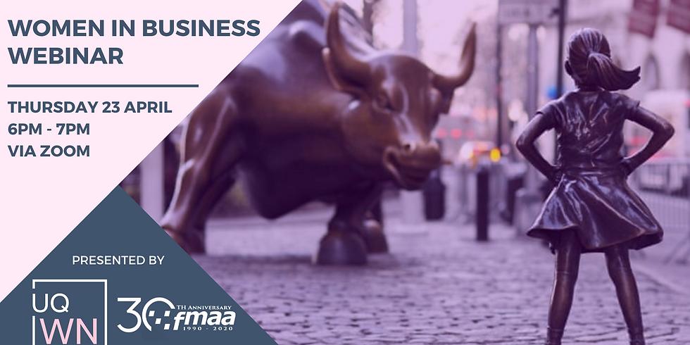 The FMAA & UQWN Present: Women in Business Webinar