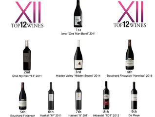 Results - Top9 Alternative Red Blends tasting on May in Johannesburg