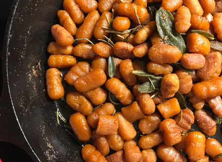 Pumpkin Gnocchi w/ Brown Butter & Sage