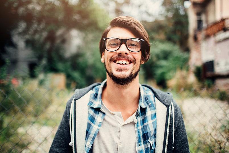 Hombre feliz