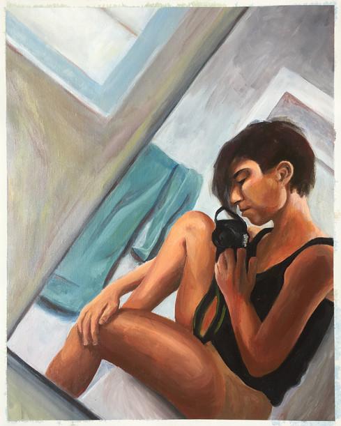 Acrylic Self Portrait