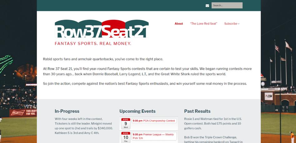 Website Design Row 37 Seat 21