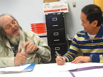 community members write poetry together through Ridgelines Language Arts