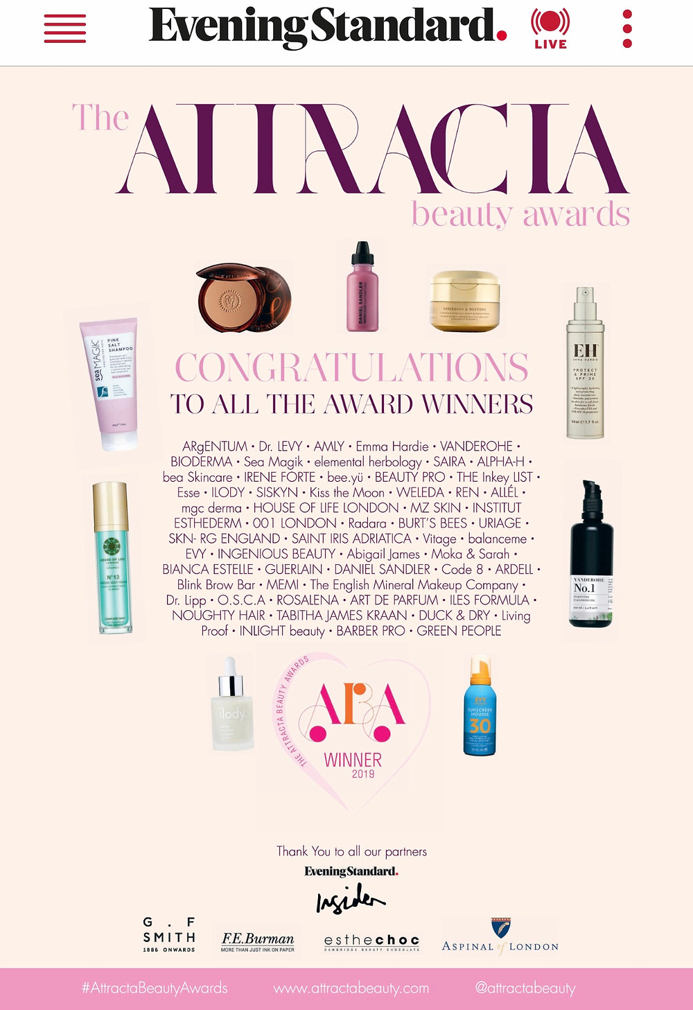 Attracta Beauty Awards 2019