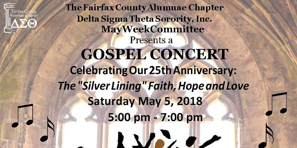 """The """"Silver Lining"""" Faith, Hope and Love May Week Gospel Concert"""