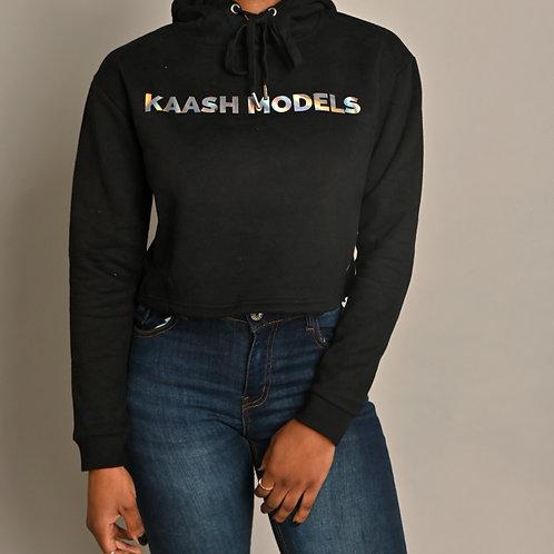 Kaashmodels Cropped Hoodie- Black