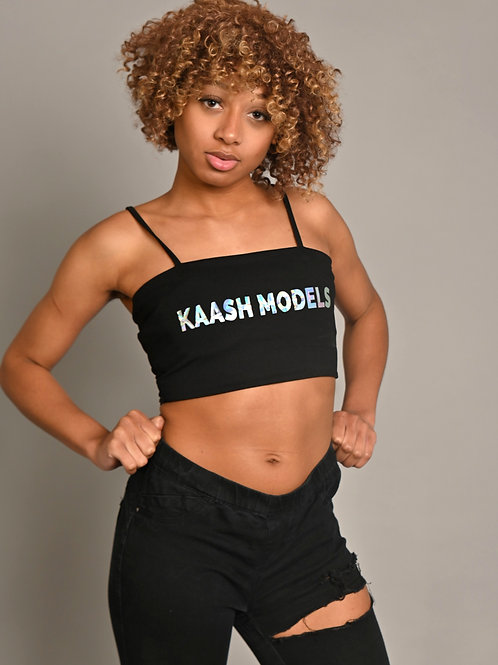 Kaash Models Black Crop Top