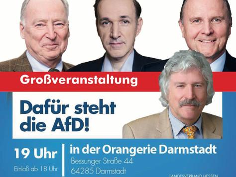 Wahlkampfveranstaltung in Darmstadt