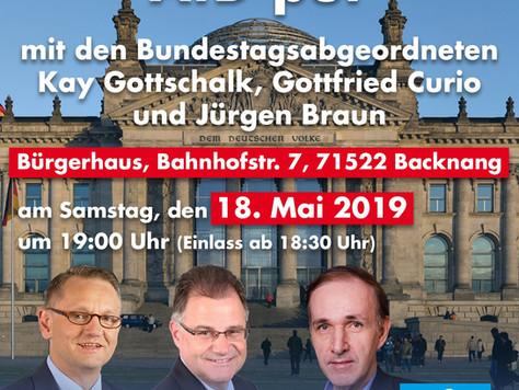 EU-Wahlkampfveranstaltung in Backnang