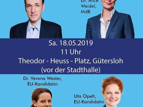EU-Wahlkampfveranstaltung in Gütersloh
