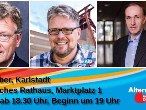 Wahlkampfveranstaltung in Karlstadt