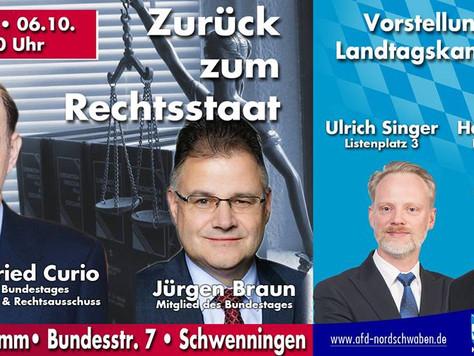 Wahlkampfveranstaltung in Schwenningen