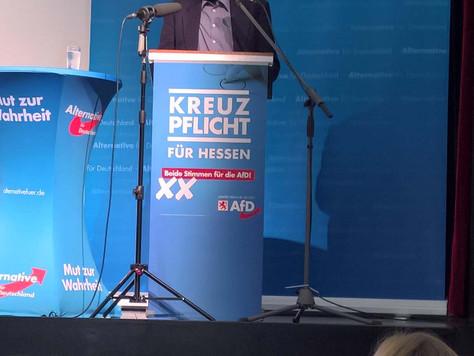 Wahlkampfveranstaltung in Kirchhain
