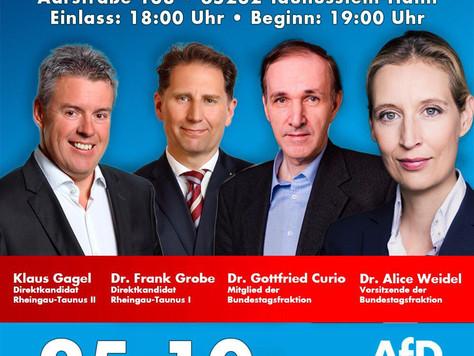 Wahlkampfveranstaltung in Taunusstein