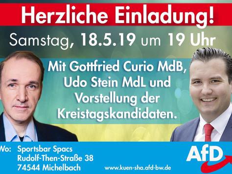EU-Wahlkampfveranstaltung in Schwäbisch Hall