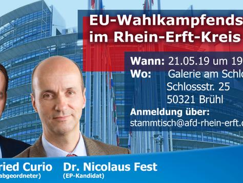 EU-Wahlkampfveranstaltung in Brühl