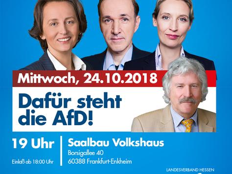 Wahlkampfveranstaltung in Frankfurt am Main