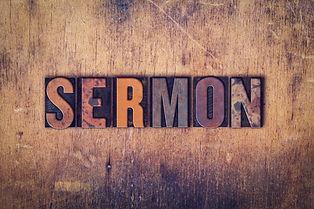 """The word """"Sermon"""" written in dirty vinta"""