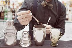 preparación de cócteles