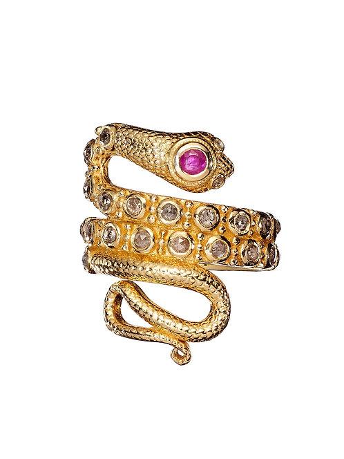 Bague Serpent - rubis I TITYARAVY