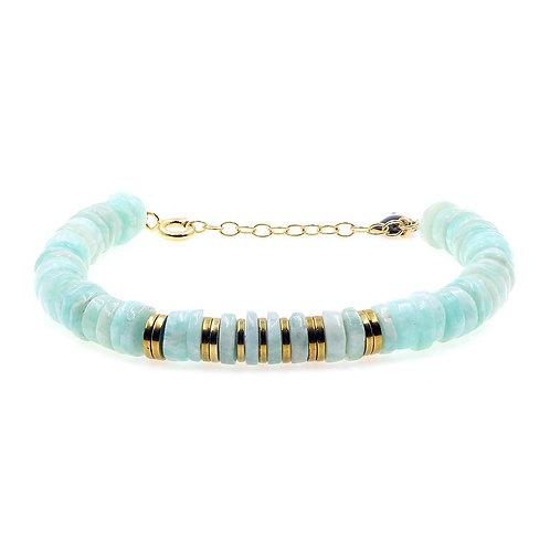 Bracelet Puka Amazonite
