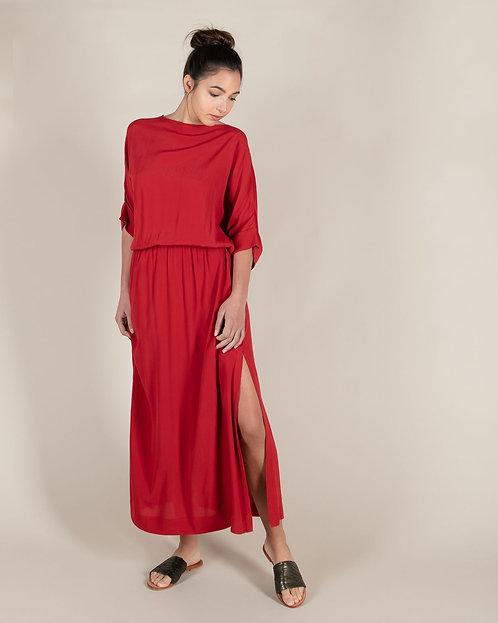 Robe Longue Buckely Velvet Red