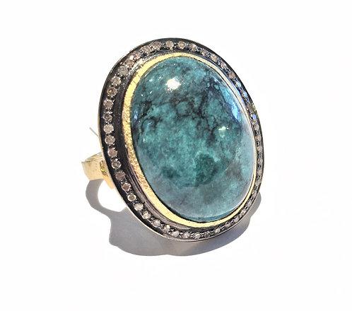 Bague vermeil turquoise I 5 Octobre