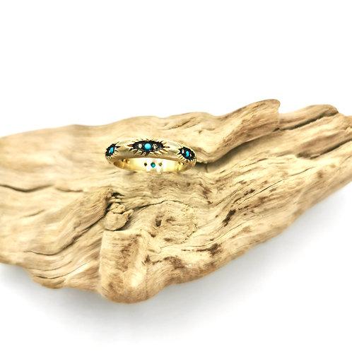 Bague - turquoise & diamants - I 5 Octobre