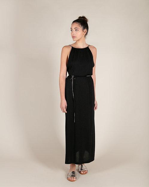 Robe Longue Lotus Black
