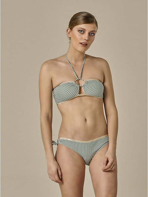Bandeau Eugenie Kaki Stripes