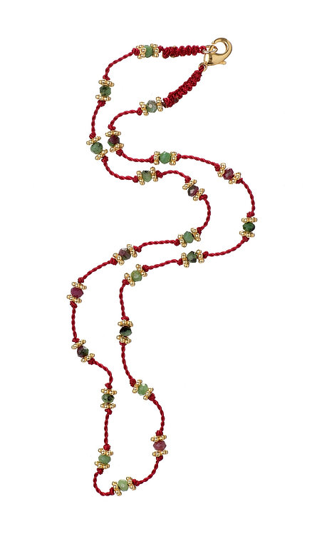 Collier Lotus Rouge