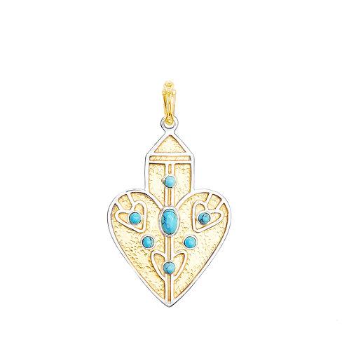 Pendentif ANAHATA XL - turquoise -  I DOROTHÉE SAUSSET