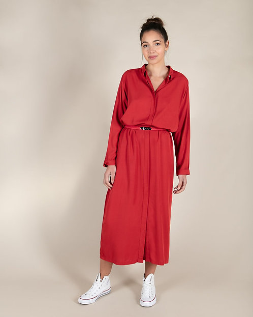 Robe Longue Cocker Velvet Red