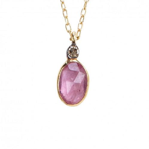 Collier ABY - saphir & diamant I 5 Octobre